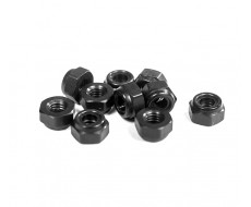 M3 Metric Black Aluminum Locknut (10)