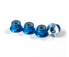 M4 Serrated Wheel Nuts, Blue