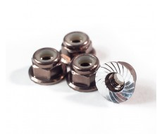 M4 Serrated Wheel Nuts, Gunmetal