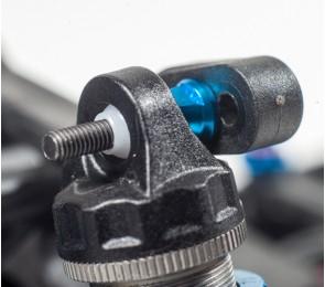 B5 Aluminum Shock Standoffs, Blue