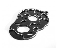 B5M 3-Gear Vented Motor Plate. Black