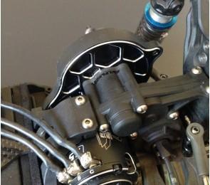 B5M 3-Gear Vented Motor Plate. Black