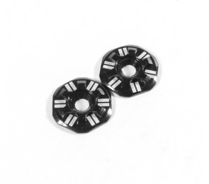 Asterisk Wing Buttons, Black