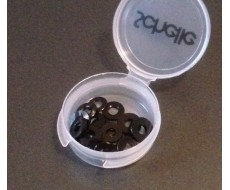 Black Ballstud Washer Set, 16 pcs.