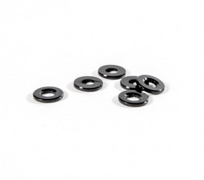 Black Ballstud Washers, 3.0mm Thick