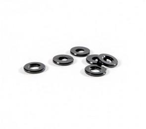 Black Ballstud Washers, 1.0mm Thick