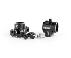 B6 Aluminum Hubs, Black + 67mm HD Axles COMBO