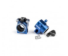 B6 Aluminum Hubs, Blue + 67mm HD Axles COMBO
