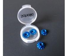 M4 Aluminum Serrated Flanged Wheel Nut, Blue