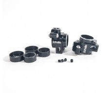 B64 / T6.1 Aluminum Rear Hubs, Black