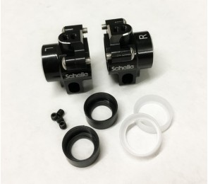 B6.1 Aluminum Hub Set, Black